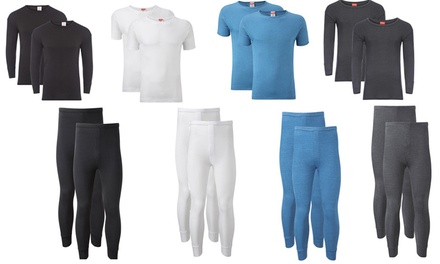 Men's TwoPack Thermal Base Layer TShirts or Long Johns