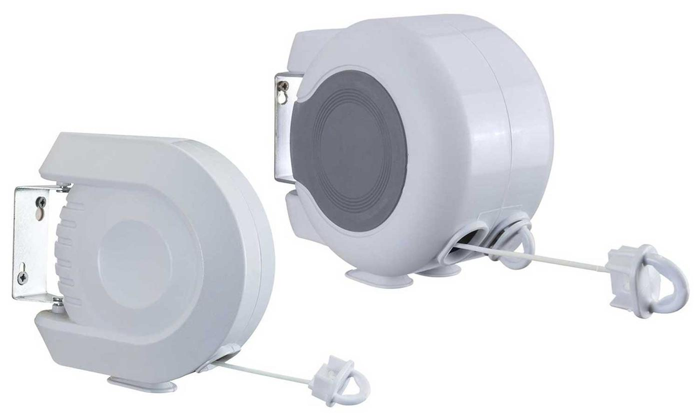 One or Two 12m Single or 26m Double Retractable Clothes Lines