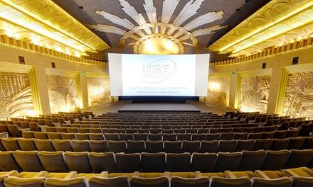 Une entrée de cinéma valable dans tous les UGC de Belgique à 6,99 €