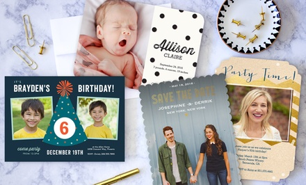 40, 70, or 100 Photo Cards from PhotoAffections (Up to 74% Off)
