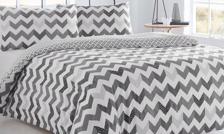 Pieridae Chevron Reversible Duvet Set