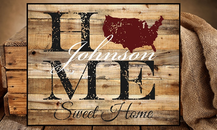 MRC Wood Products: One or Two 7x20 or 15x12 Personalized Family Signs from MRC Wood Products (Up to 46% Off)
