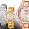 Bürgi Women's Crystal-Accented Bracelet Watch