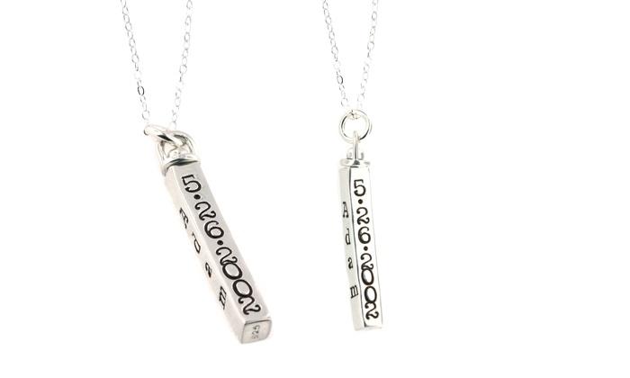 Personalized swivel bar pendant groupon goods personalized swivel bar pendant in sterling silver by hannah design aloadofball Choice Image