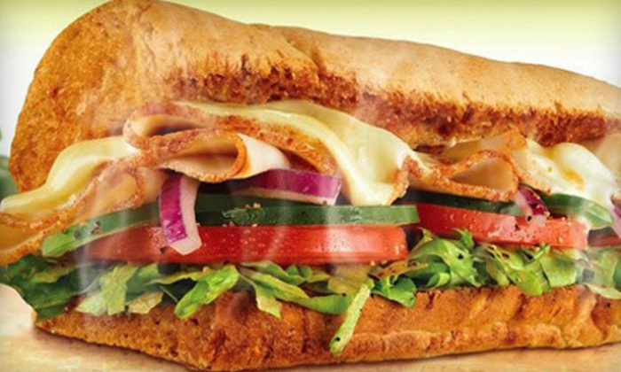 Subway - Multiple Locations: Footlong Combo Meal for Two or a Fresh Fit or Classic Combo Platter at Subway (Up to 43% Off)