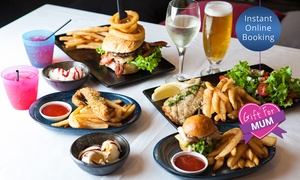 Ultra Lounge Bar & Cafe: $49 for a Family Feast with Drinks for Four People at Ultra Lounge Bar & Cafe (Up to $98 Value)