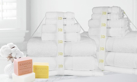 100% Egyptian Cotton 600GSM Bath Sheet Set: 7-Piece ($49.95) or 14-Piece Set ($99.95) (Don't Pay up to $218)