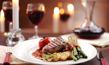 Sirloin Steak with Wine or Beer for Two or Four at King George V (Up to 48% Off)
