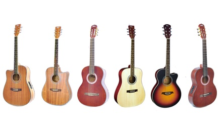 6-String Full-Scale Acoustic Guitar with Accessory Kit