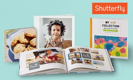 One Two, Three, or Five 8x8 Shutterfly Hard Cover 20-Page Photo Books (Up to 84% Off). Four Options Available.