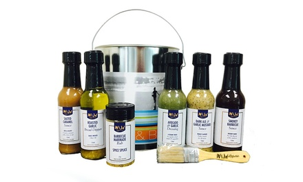 $59 for a 9 Piece Wild Appetite Christmas Hamper: Beach Bach BBQ Tin with Apron and Marinade Brush (Don't Pay $89.95)