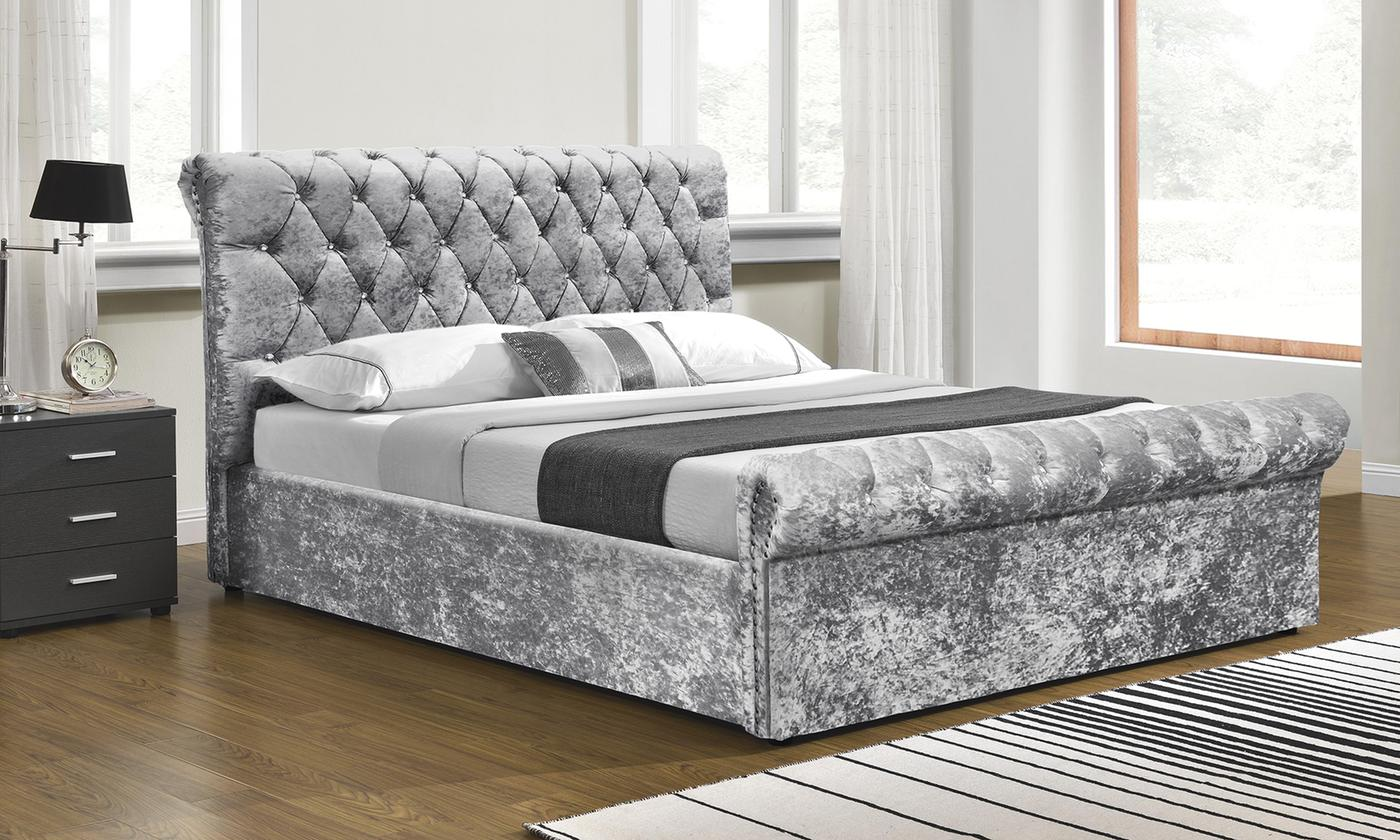 Chesterfield Ottoman Bed with Optional Mattress (£439)