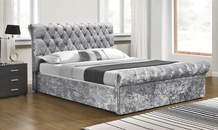 Chesterfield Ottoman Bed with Optional Mattress