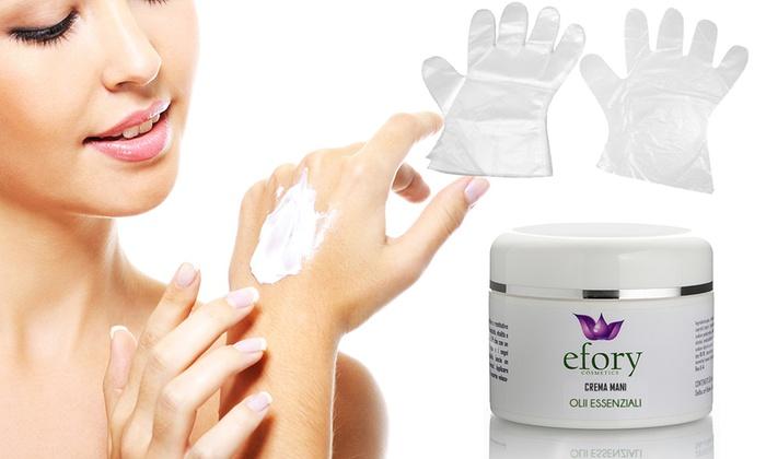 Crema maschera mani Olii essenziali Efory Cosmetics