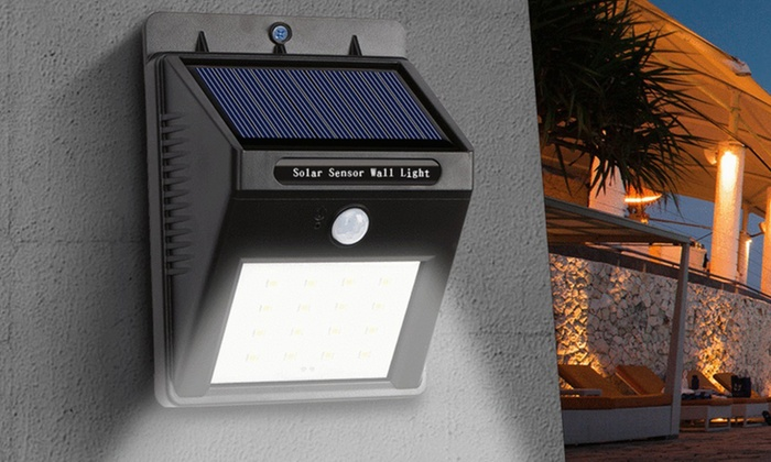 Led solar powered motion sensor security light 1 or 2 pack groupon led solar powered motion sensor security light 1 or 2 pack aloadofball Choice Image