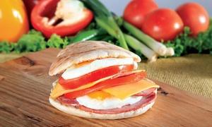 Bimbo's Benoni: Breakfast Pita and Drink from R35 for One at Bimbo's Benoni