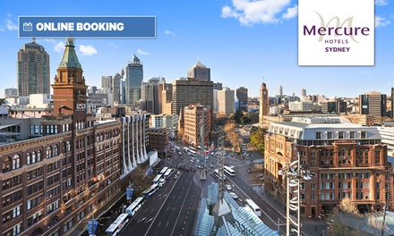 Sydney CBD: 13 Nights for Up to 2 Adults & 2 Children with Breky, Late CheckOut & Optional Meal at 4* Mercure Sydney