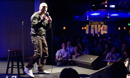 image for One VIP Ticket or Two VIP Tickets with a Pizza or Bottle of Champagne at Parlor Live Comedy Club (Through June 30)