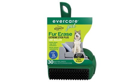 Evercare Pet Plus Extreme Stick T-Handle Lint Roller with Brush (30-Sheet) 0615fb0d-8c45-4ae1-96a6-ffd297b23303