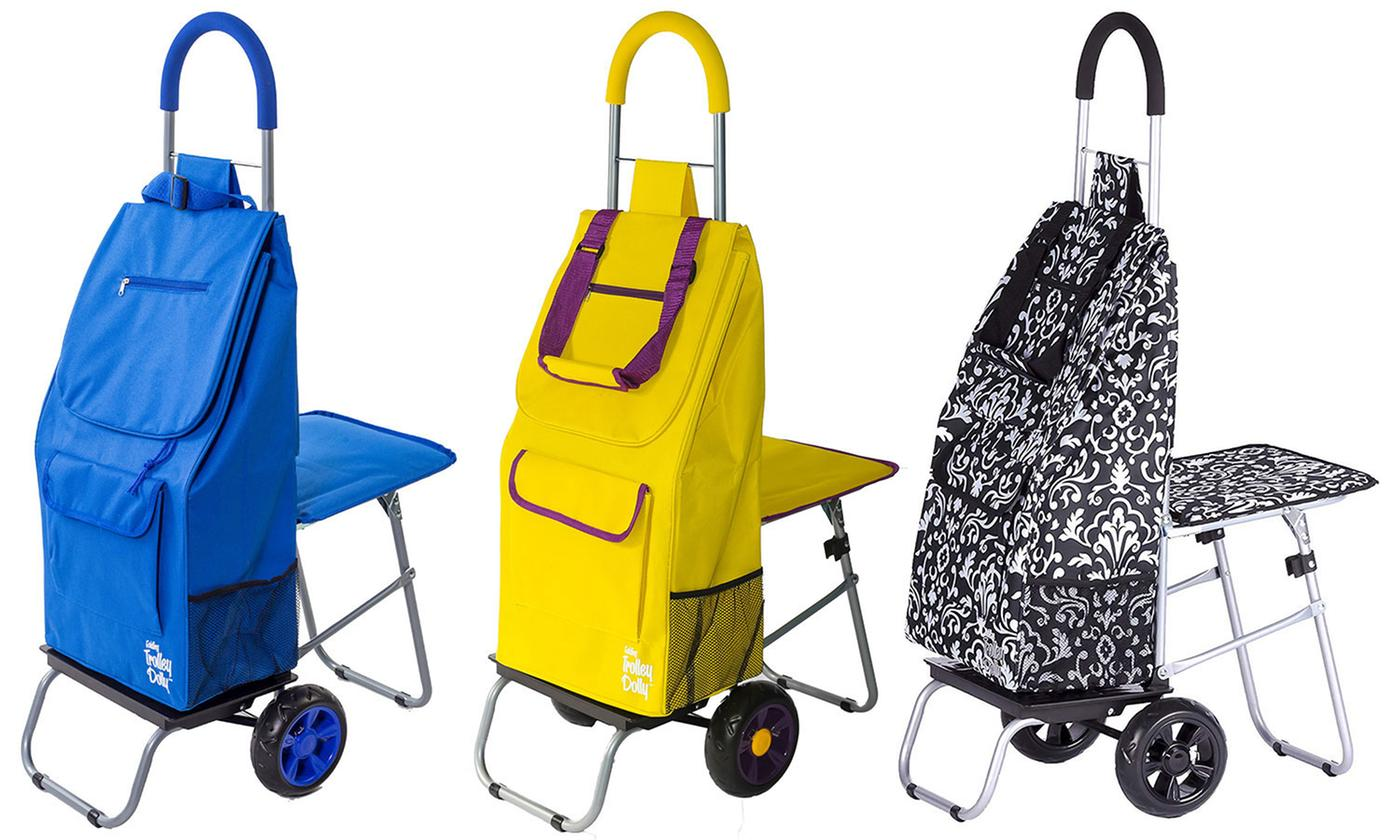Save 50% on Trolley Dolly Rolling Travel Bag with Seat