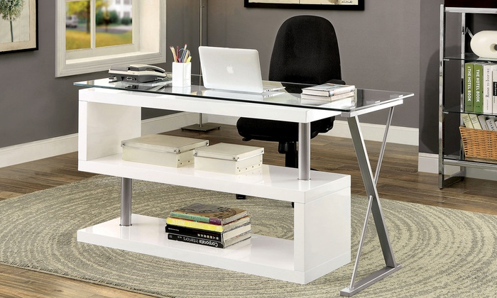 Furniture Of America Contemporary Convertible Office Desk Furniture Of  America Contemporary Convertible Office Desk ...