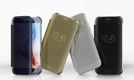 1 o 2 cover a specchio per Samsung Galaxy S6, S7 e S7 Edge disponibile in 5 diversi colori