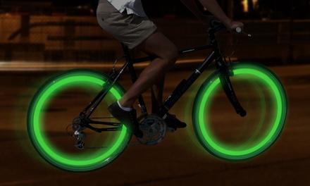 Four LED Bike Wheel Lights for £2.99
