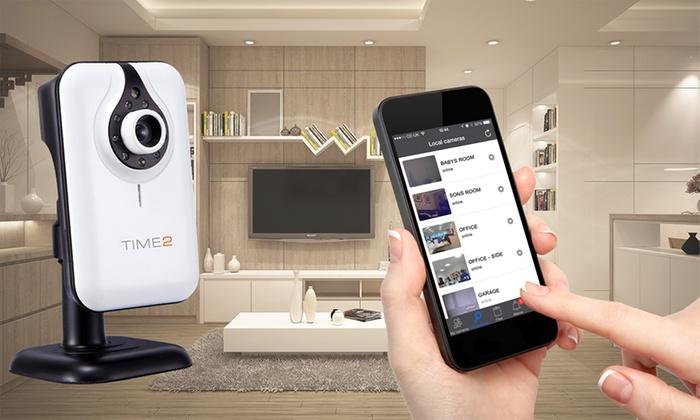 Groupon Goods Global GmbH: TIME2 HD IP Überwachungskamera mit Nachtsicht optional inkl. microSD-Karte (bis zu 80% sparen*)