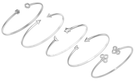 $29 for a Sterling Silver Cuff Bangle in a Choice of Style (Don't Pay $124)
