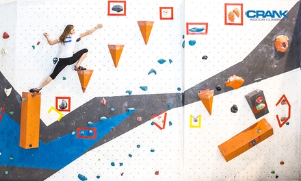 $49 for Ten Rock Climbing Day Passes at Crank Indoor Climbing Up to $200 Value