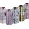Men's Short-Sleeve Plaid and Camo Shirts