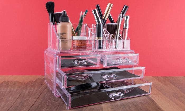 organisateur de maquillage groupon shopping. Black Bedroom Furniture Sets. Home Design Ideas