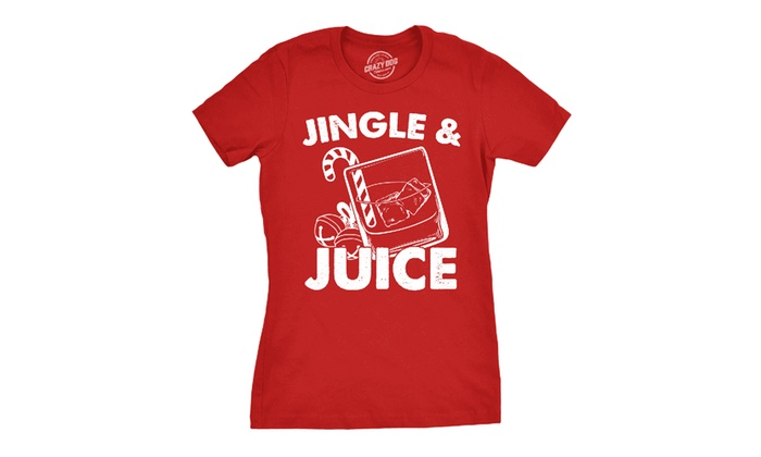 afd4c049d6 Women's Fitted Funny Christmas Tee. Plus Sizes Available. | Groupon