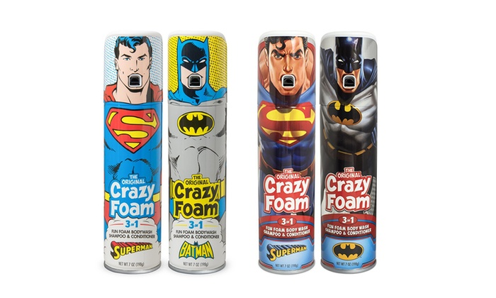 Crazy Foam DC Originals and Justice League 3-In-1 Body Soaps (2- or 4-Pack)