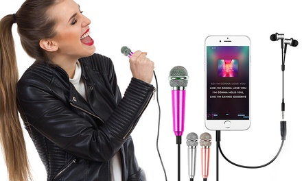 One, Two or Four Mini Karaoke Microphones