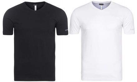 2er-Pack Kappa Sebbo Herren-Unterhemd aus 100% Baumwolle in Schwarz oder Weiß (67% sparen*)