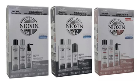 Nioxin Shampoo, Conditioner, and Treatment Set (3-Piece) System 1, 2, 3, 4, 5, 6