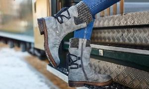 Boots plates à petits talons