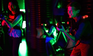 53% Off Six-Game Laser Tag Family Pack at Revel & Roll West at Revel & Roll West, plus 6.0% Cash Back from Ebates.