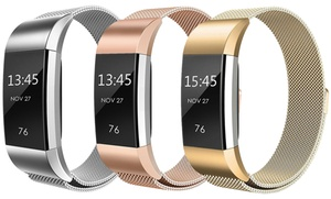 Milanese Loop Mesh Replacement Band, Compatible with Fitbit Charge 2