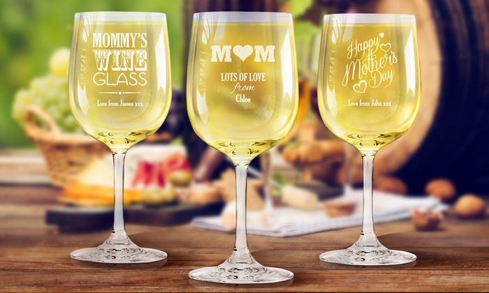 fabness one or two custom etched wine glasses for moms from fabness up to - Etched Wine Glasses