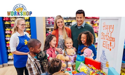 $75 for BuildAParty Celebration at BuildABear Workshop for Seven Guests, Multiple Locations Nationwide Up to $126