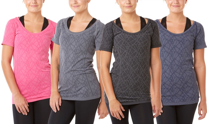 f140beae8ae Form+Focus Women s Seamless Marled T-Shirt (4-Pack) (Size M L)