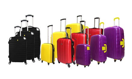 Highflyer Three-Piece Luggage Set in Choice of Style and Colour from AED 269 (Up to 64% Off)