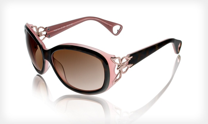 Flutter Eyes Sunglasses: $39 for Flutter Eyes Sunglasses by Betsey Johnson ($225 List Price). Two Colors Available.