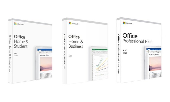 Microsoft Office 2019 Home & Student, Home & Business or Professional Plus for Windows
