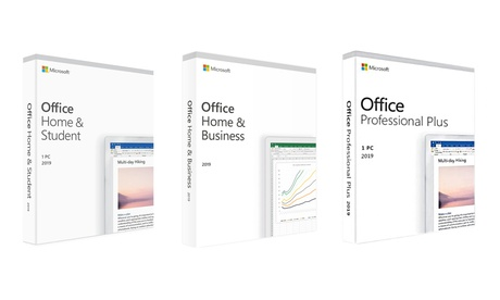 Microsoft Office 2019 Home & Student, Home & Business or Professional Plus para Windows (Envío gratuito)