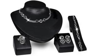 Parure de bijoux ornés cristaux Swarovski®