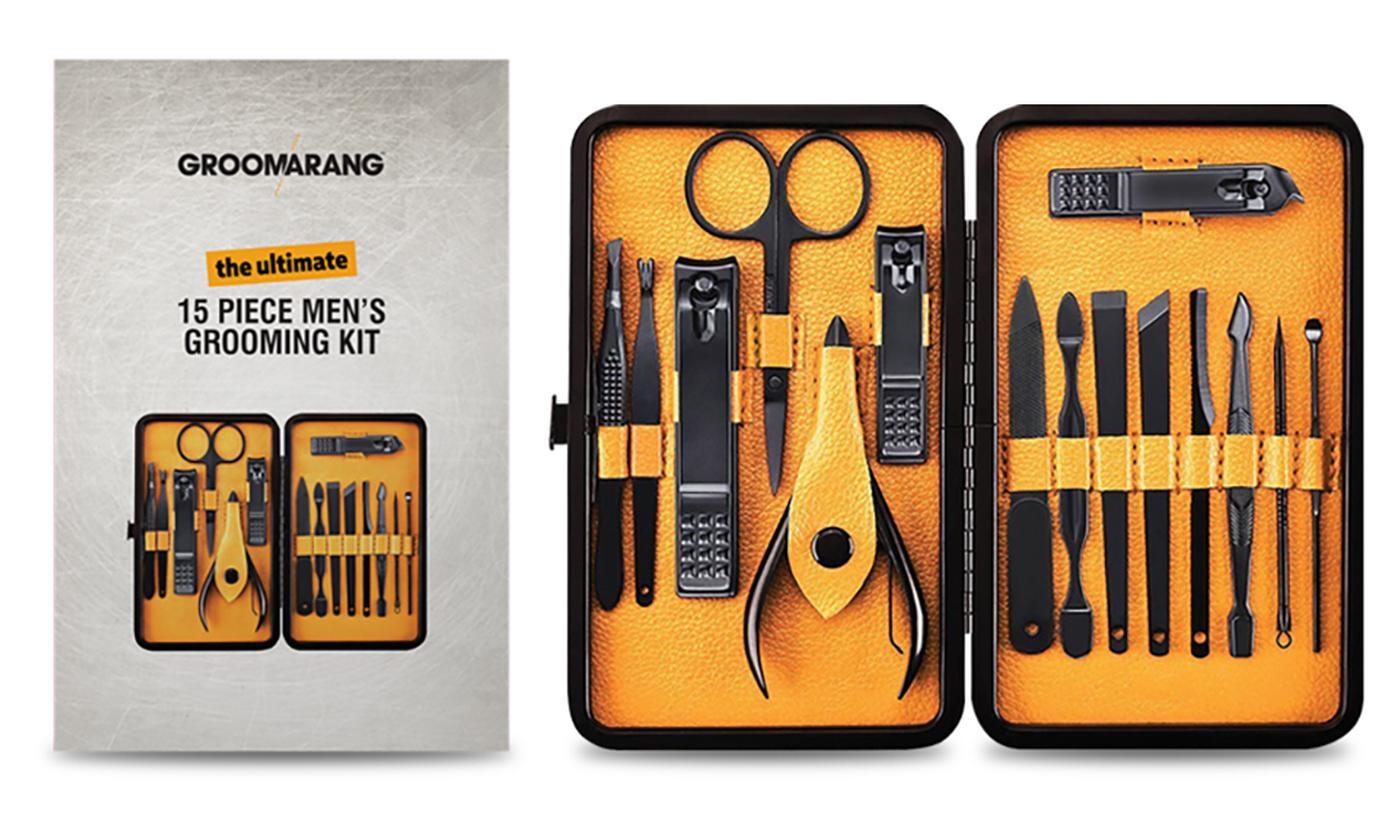 Groomarang 15-Piece Men's Grooming Kit