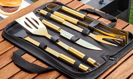 Maletín con 5 utensilios para barbacoa